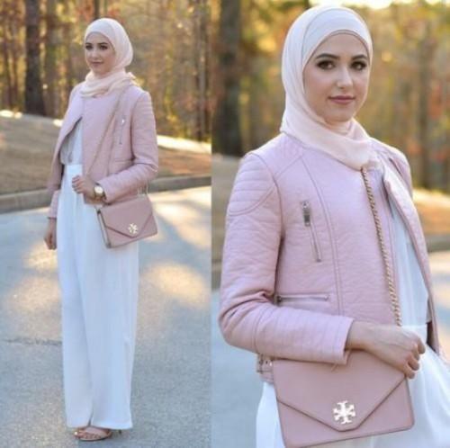 palazzo pant hijab look