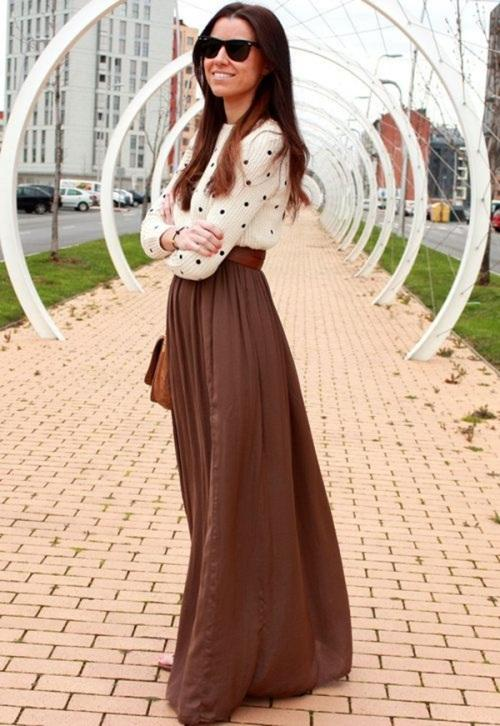 Image result for maxi skirt and sweater