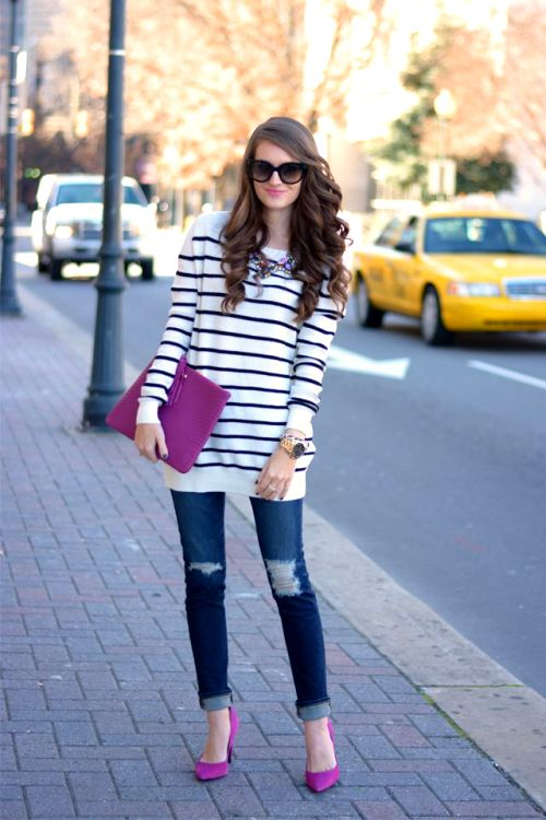 Winter outfits ideas in pop colors   Just Trendy Girls