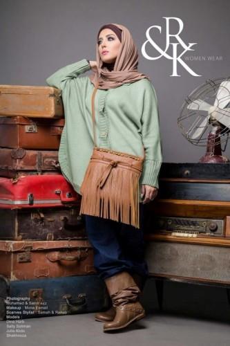 mint sweater hijab style