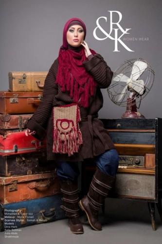winter hijab style