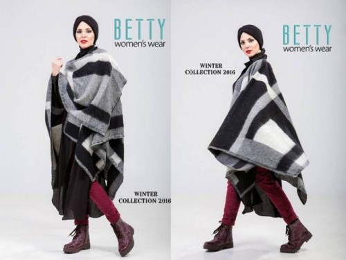 blanket poncho hijab outfit