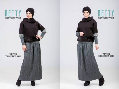 gray maxi skirt hijab outfit