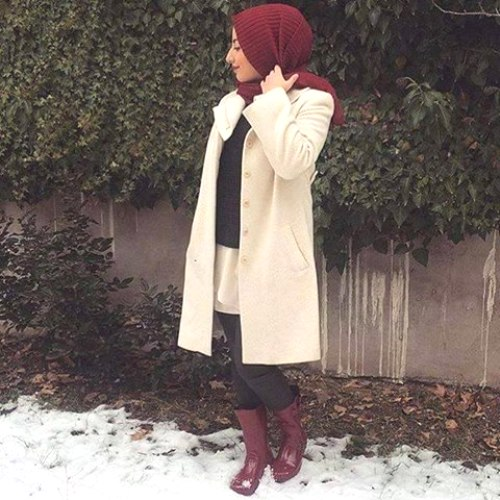 snow look hijab style