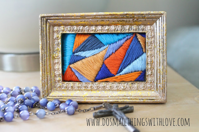 03 - Do Small Things with Love - Framed Satin Stitch
