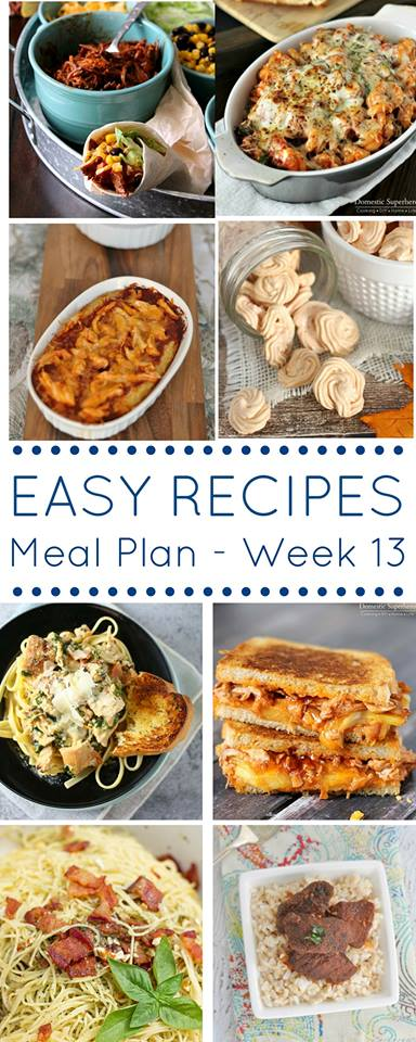 This meal plan full of easy dinner recipes is exactly what you need to help you get dinner on the table each night.