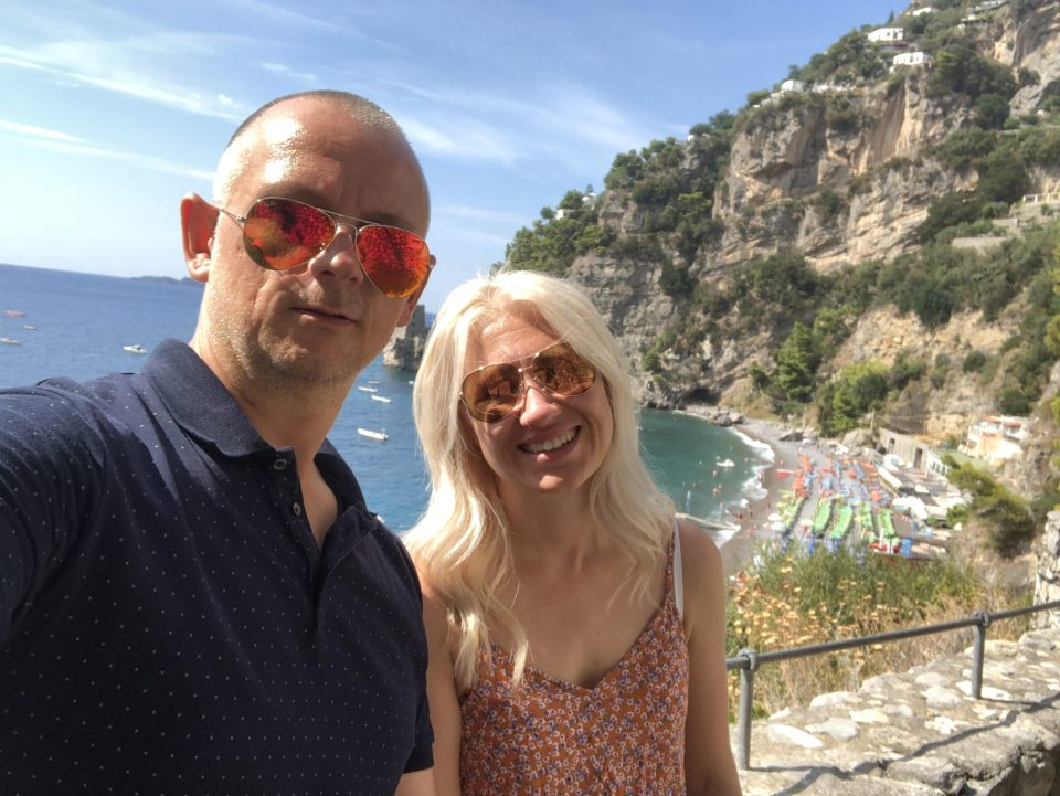 Just Us Two Enjoying Positano