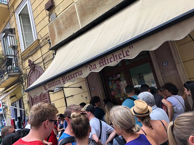 People Queuing Outside L'antica Pizzeria da Michele