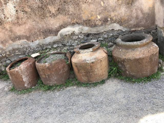 Remains Of Pots, Pompeii, Naples