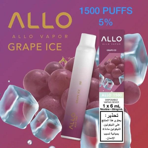 ALLO DISPOSABLE VAPE (1500 PUFFS) Grape Ice
