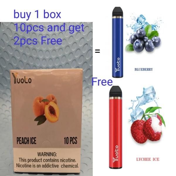 Disposable yuoto buy 1box 10pcs and get 2 pcs free