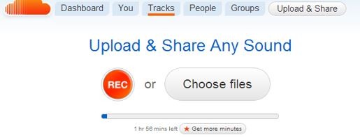 how to upload songs to soundcloud from phone