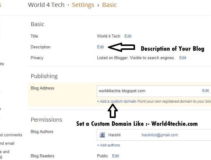 Set a Custom Domain for Blogger Blog