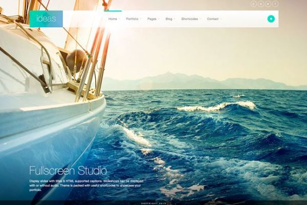 Ideas WordPress Full Screen Theme