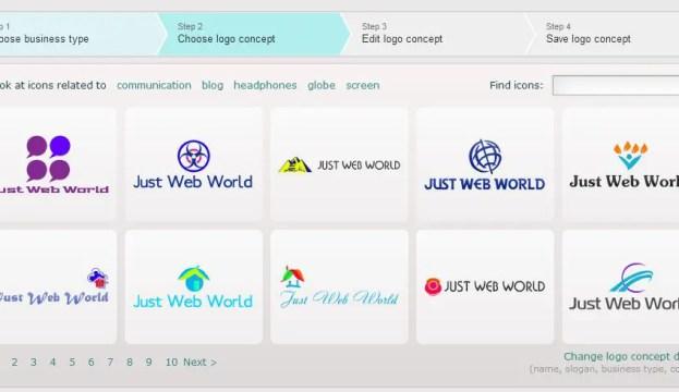 Сreate a Just Web World logo using logaster.com
