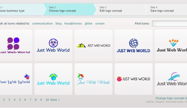 Сreate a Just Web World logo using logaster.com