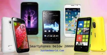 Smartphones below 20000