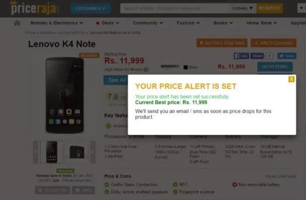 Price Drop Alert Option