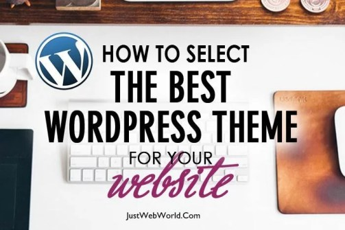 How to select best wordpress theme