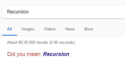 Recursion Google