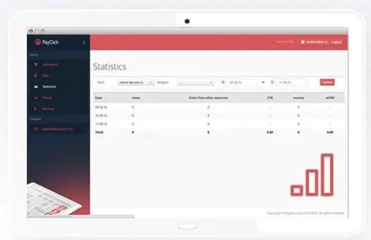 Track online statistics