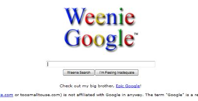 Weenie Google trick