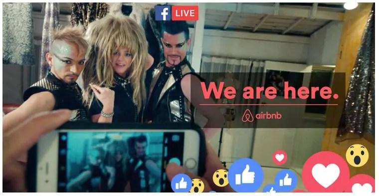 Airbnb Social media marketing campaign facebook