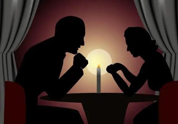 Romantic candle light Birthday celebration