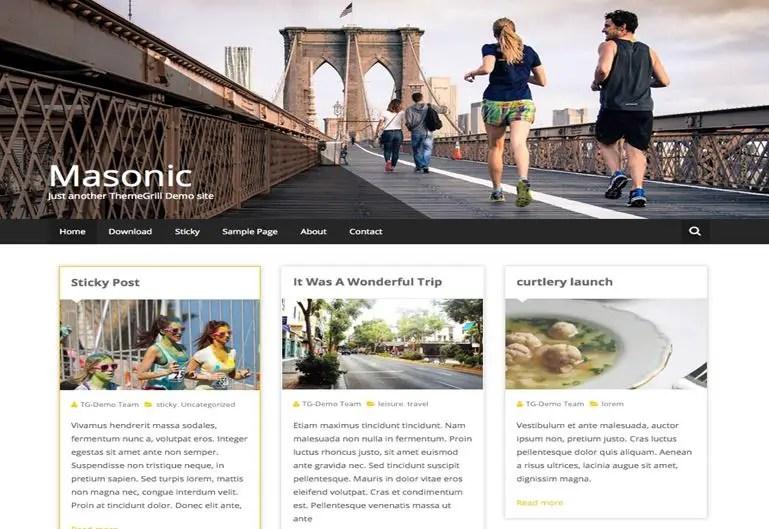 Masonic WordPress Theme