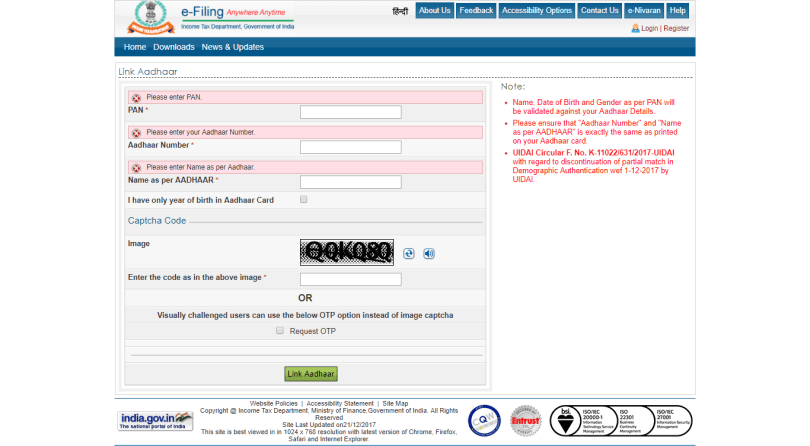 Income Tax Department Official Website