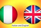 Italian and English