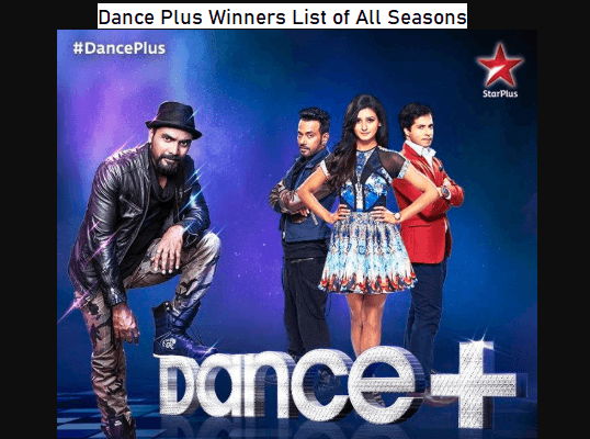 Dance Plus Winners List of All Seasons
