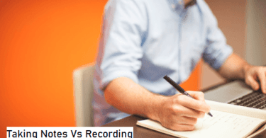 Taking Notes Vs Recording