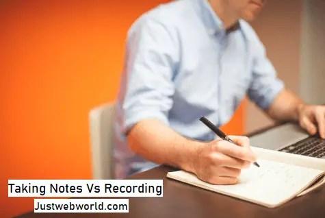 Notes-Vs-Recording