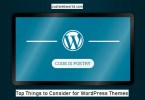 Selecting the perfect wordpress theme