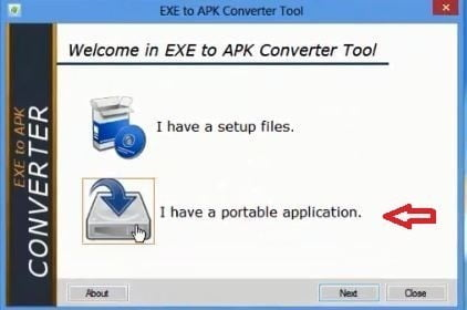Portable application