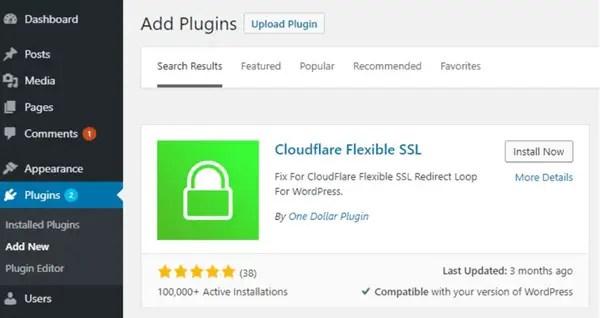 Cloudflare Flexible SSL Plugin