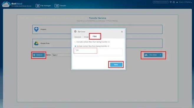 Easy Transfer Between Multiple Cloud Drives
