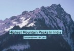 India's highest peaks