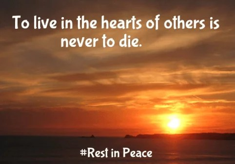 Rest In Peace Sayings