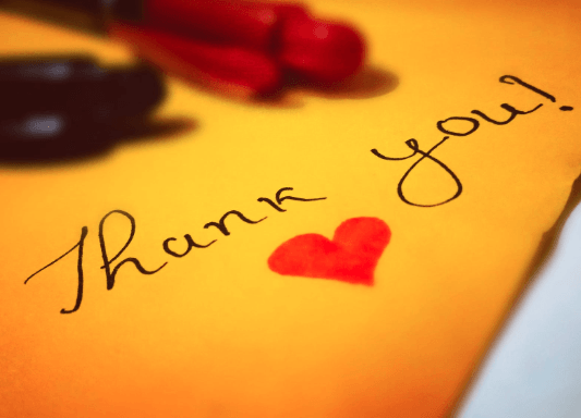 How to say thanks for congratulations