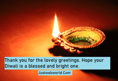 Thank you messages for Diwali wishes