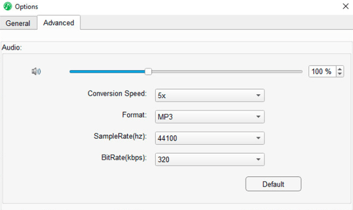 Select Tracks and Set Output Format