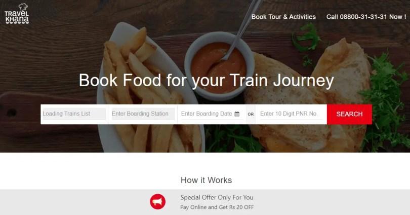 Travelkhana - Train Food Service