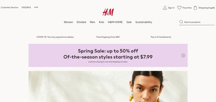 H&M - Clothing retail company