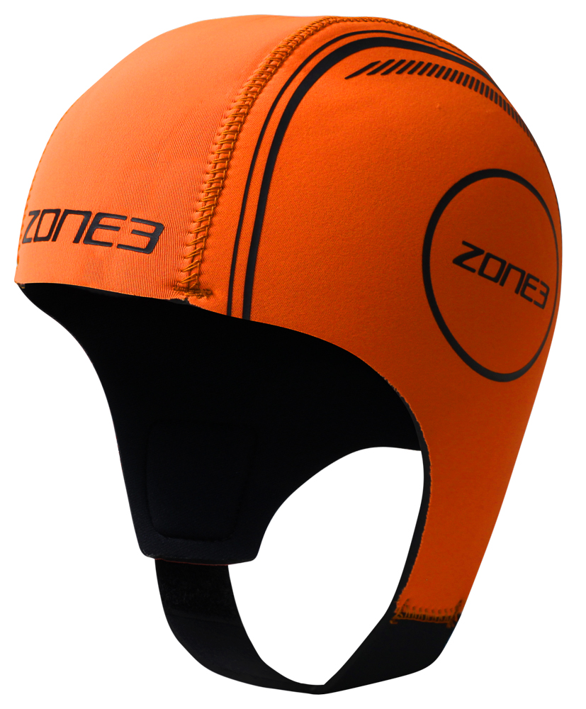 Zone3 High-Vis Orange Neoprene Triathlon Swim Cap