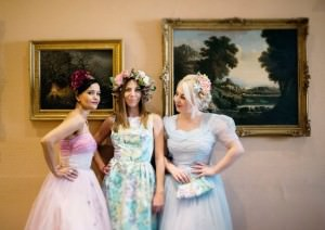 Real Green Dress Vintage Gowns - Amy Radcliffe Photography