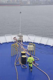 Ik vind de kleurtjes op het dek van een ferry en het lijnenspel van de touwen altijd zo leuk