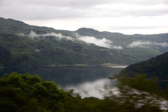 Goed uitzicht vanuit de trein
