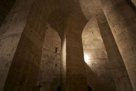 Ondergronds in de beneden-kerk in de kathedraal